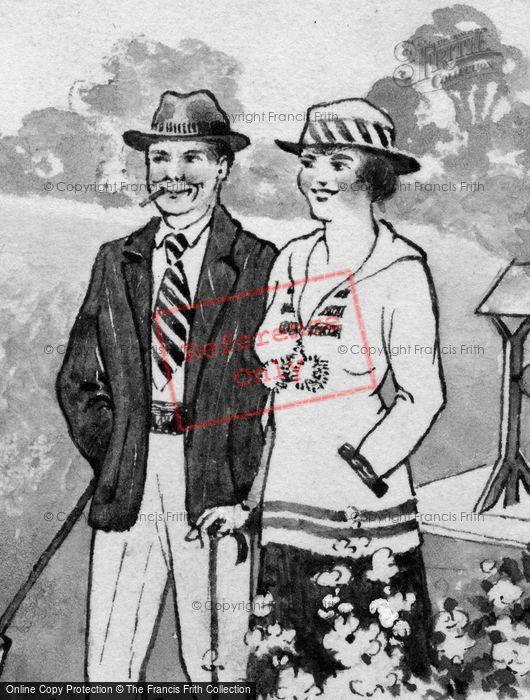 Photo of Happy Couple Sketch 1919
