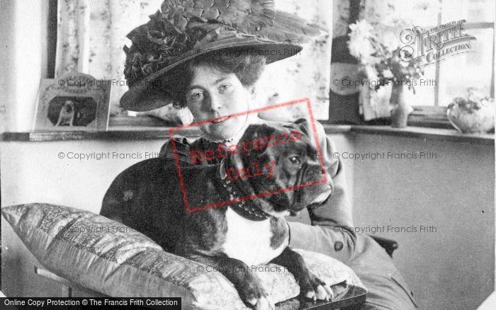 Photo of Lady With Dog c.1910