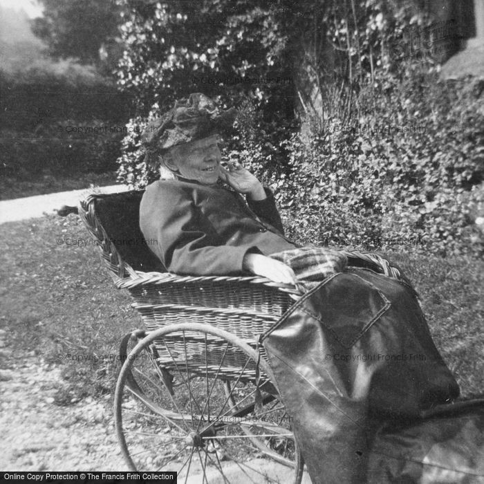 Photo of Old Lady In Wheel Chair c.1900