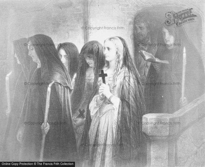 Photo of Old Painting, Nuns In Church
