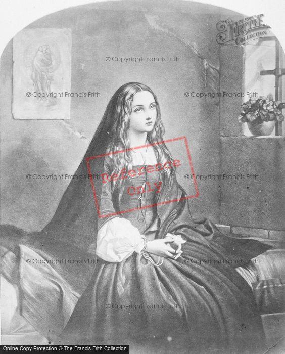Photo of Old Painting, Praying Girl