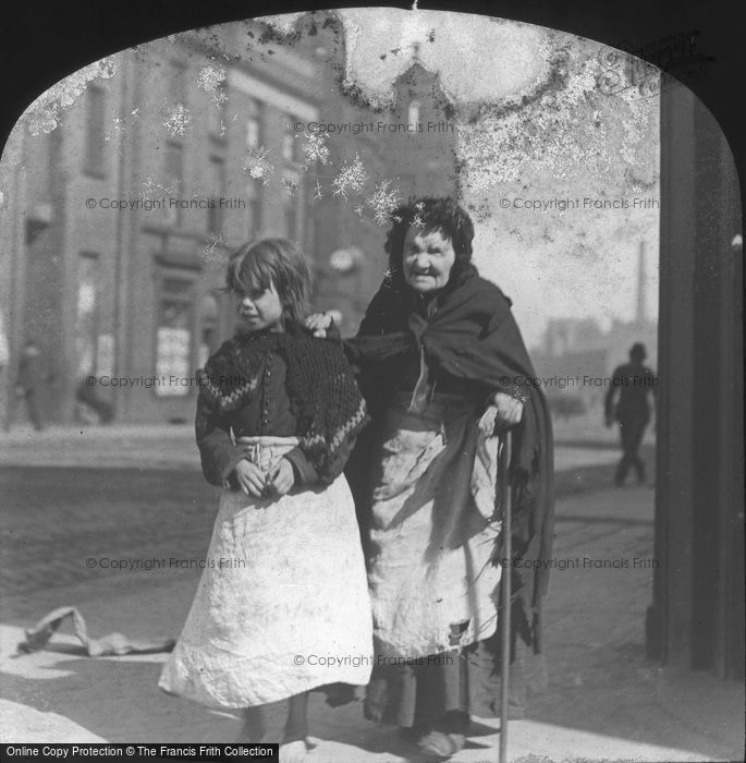 Photo of Old Woman And Girl c.1880