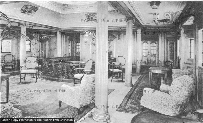 Photo of Orient Line Rms Orvieto, First Class Lounge c.1910