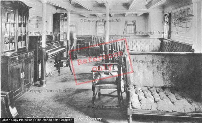 Photo of Orient Line Rms Orvieto, Third Class Music Room c.1910