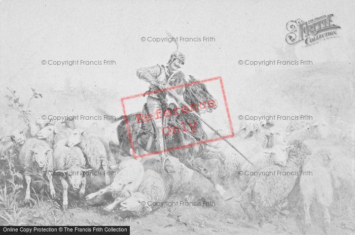 Photo of Quixote Charging The Sheep, Brendel c.1880
