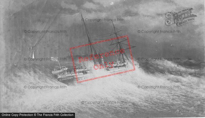 Photo of Ship In Rough Sea c.1880
