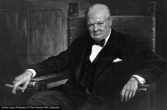Photo of Sir Winston Churchill (1874 1965)