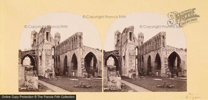 Photo of Stereoscopic View By Frith Of Elgin Cathedral c.1856