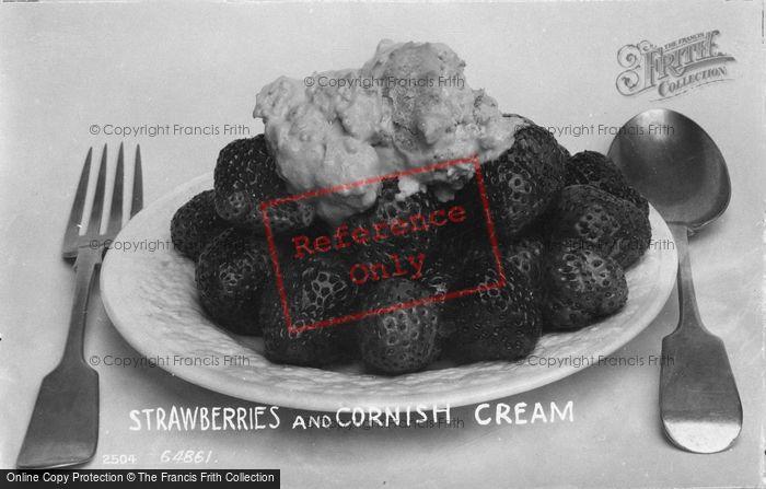 Photo of Strawberries And Cornish Cream 1912