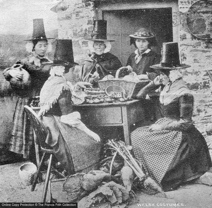 Photo of Welsh Costumes c.1864