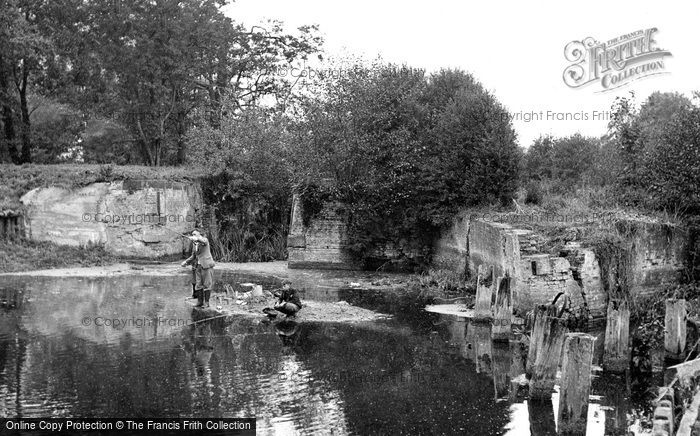 Sproughton, Fishing By The Old Lock c.1955