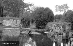 Fishing By The Old Lock c.1955, Sproughton