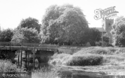 Sproughton, The Bridge And Church c.1965