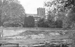 The Church And River c.1955, Sproughton