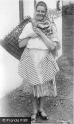 St Abbs, A Scottish Fishwife c.1932