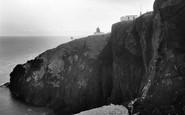 St Abbs, Head, The Lighthouse c.1935