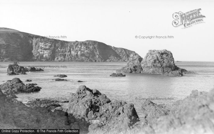 St Abbs, The Cliffs From The Harbour c.1955