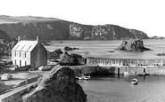 St Abbs, The Harbour And Cliffs c.1955