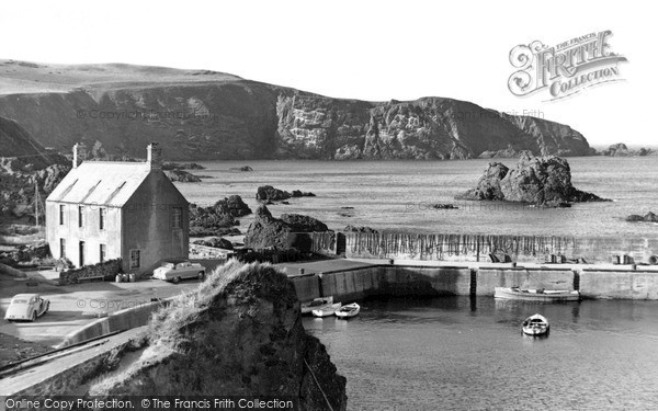 Photo of St Abbs, the Harbour and Cliffs c1955, ref. s416308