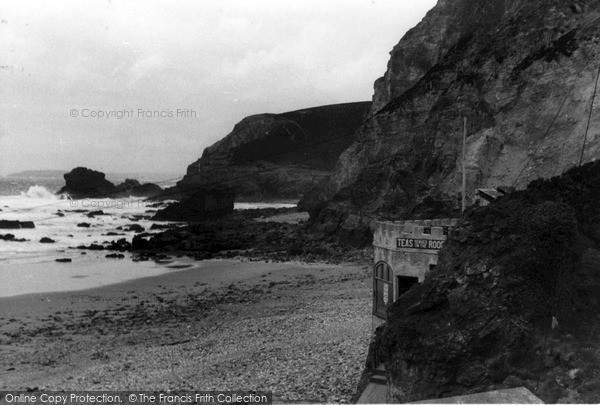 Photo of St Agnes, Beach And Cafe c.1955