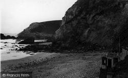 St Agnes, Beach And Cliffs c.1955
