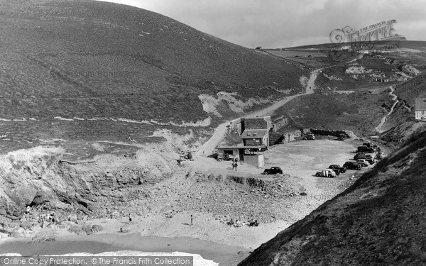 Photo of St Agnes, Beach And Valley At Chapel Porth c.1955