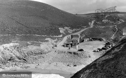 St Agnes, Beach And Valley At Chapel Porth c.1955
