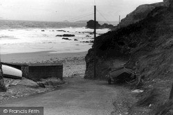 St Agnes, Beach Approach c.1955
