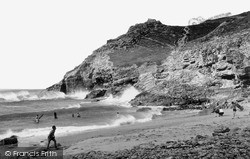 St Agnes, Beach At Chapel Porth c.1955