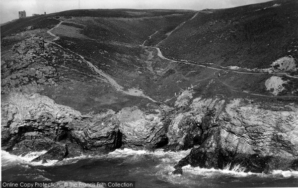 Photo of St Agnes, Caves In The Cliffs At Porth c.1955