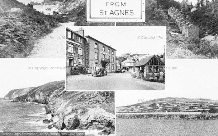 Photo of St Agnes, Composite c.1955