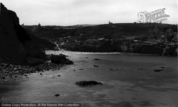 Photo of St Agnes, From Trevellas Cliffs c.1955