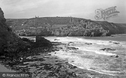 St Agnes, Looking Towards Trevaunance Cove c.1955