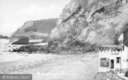 St Agnes, The Beach And Cafe c.1955