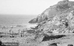 St Agnes, The Beach, Chapel Porth c.1955