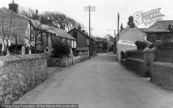 Photo of St Agnes, Village c.1955