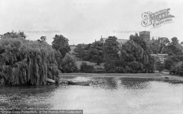 Photo of St Albans, the Abbey from the Lake c1960, ref. S2090