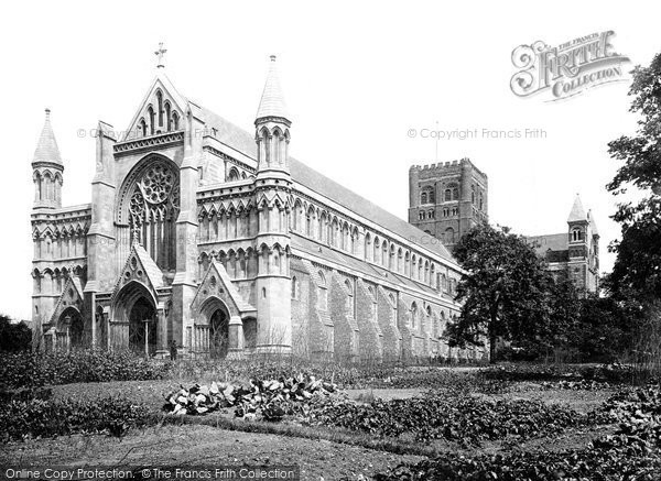 Photo of St Albans, the Abbey, South west 1921, ref. 70456
