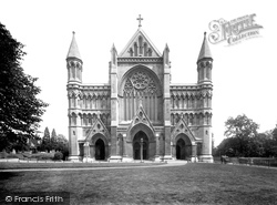 St Albans, Cathedral And Abbey Church, West Front 1921