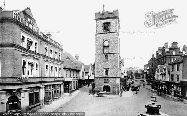 St Albans, Clock Tower and Market Cross 1921