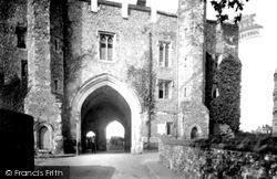 St Albans, The Abbey Gateway 1921