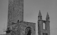 St Andrews, St Rule's Tower and Cathedral 1953