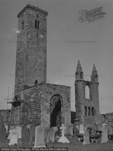 Photo of St Andrews, St Rule's Tower and Cathedral 1953