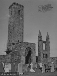 St Rule's Tower And Cathedral 1953, St Andrews