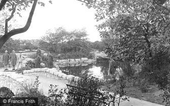 St Anne's, Ashton Gardens, Bridge and Stepping Stones 1917