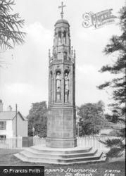 Bishop Morgan's Memorial c.1890, St Asaph