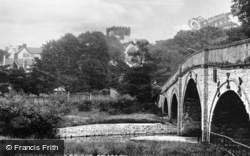 Cathedral And Bridge c.1935, St Asaph