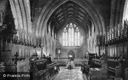 Cathedral, Choir West c.1935, St Asaph