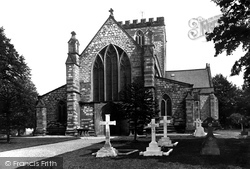 Cathedral West Front 1890, St Asaph