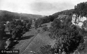 St Asaph, Cefn Valley from the Cave c1875